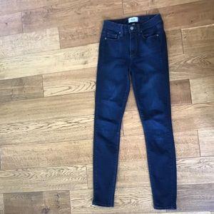 Paige denim Hoxton ultra skinny dark wash jeans!